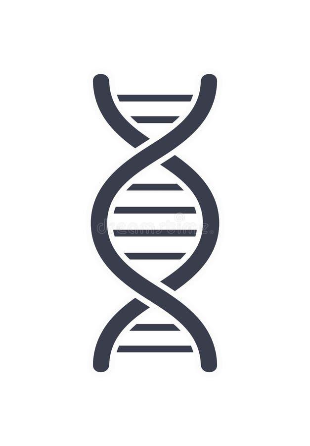 Chaîne Logo Design Icon d'acide désoxyribonucléique d'ADN illustration libre de droits