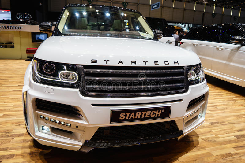 Chaîne Rover Sport, Salon de l'Automobile Geneve 2015 de Startech photographie stock libre de droits