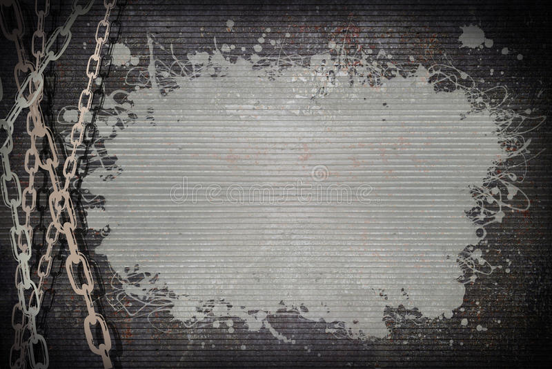 Chaîne sur le métal de rouille illustration libre de droits