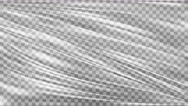 Chaîne transparente de plastique polyéthylène illustration stock