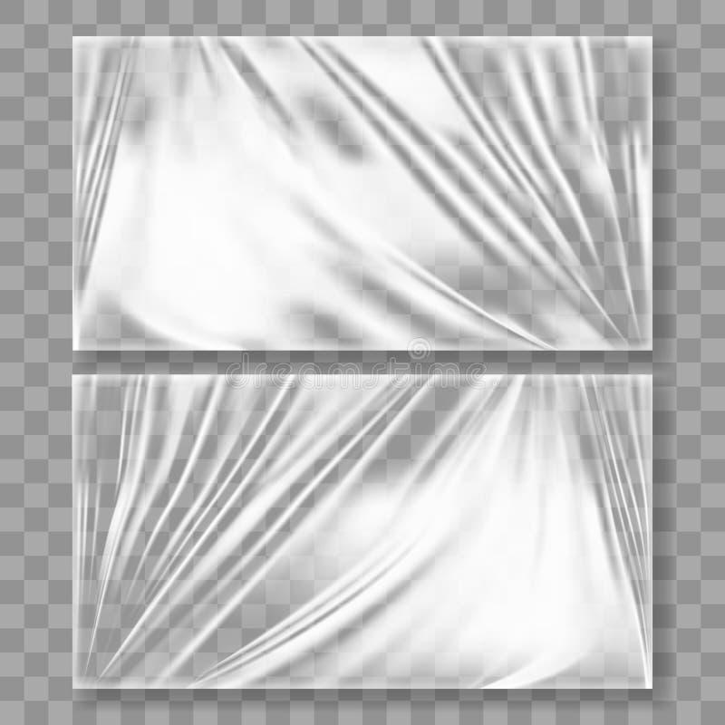 Chaîne transparente de plastique polyéthylène avec l'ombre illustration libre de droits