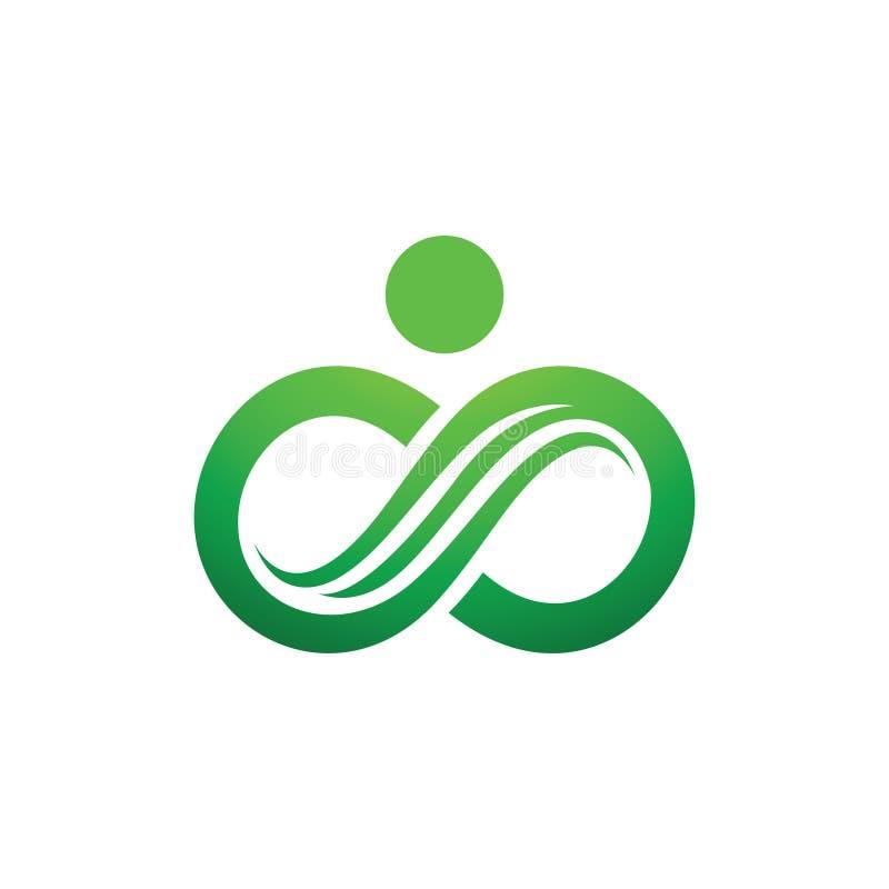 Chaîne verte Eco Logo Symbol d'infini de nature illustration libre de droits