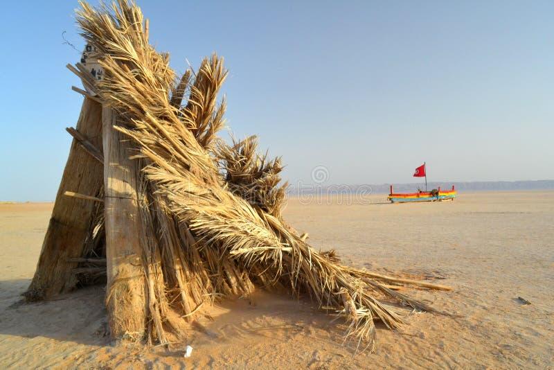 Chałupa w Chott el Djerid obraz stock