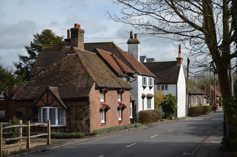 Chałupy w Bramber Zachodni Sussex UK zdjęcie stock