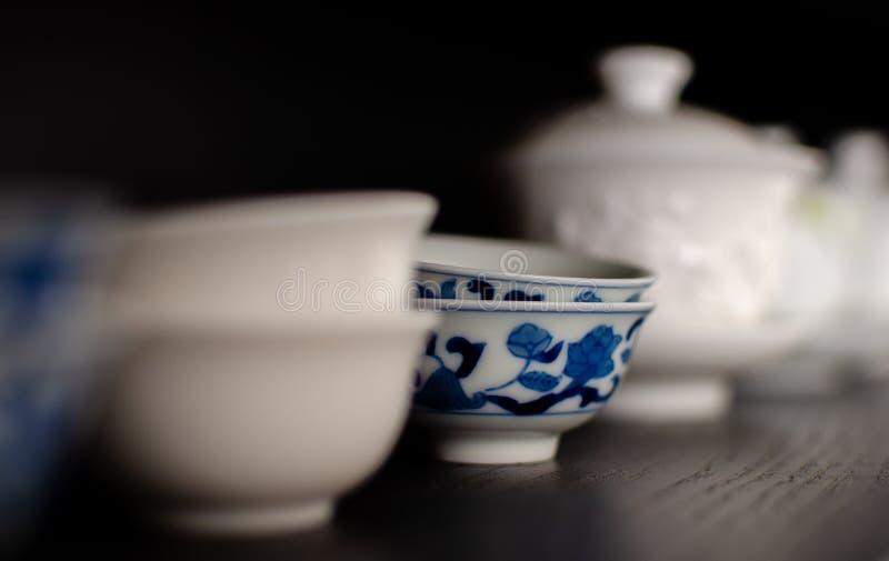 Cha Bei porcelany Teacups - specjalny teacup chiński herbaciany pić obraz stock