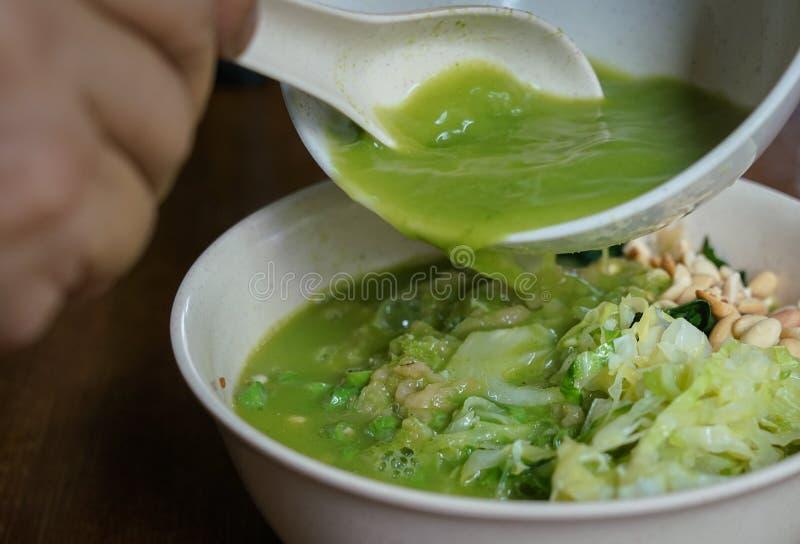 Cha di Lei, alimento cinese di hakka fotografia stock libera da diritti