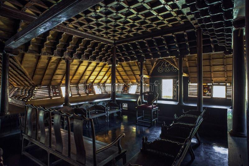 Cha för råd för arvarkitektur-TravankoreKing's aii trä arkivfoton