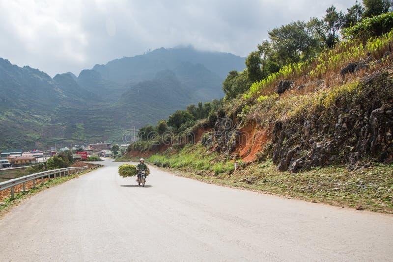 Cha?ne de montagne de Ha Giang, Vietnam du nord photos libres de droits