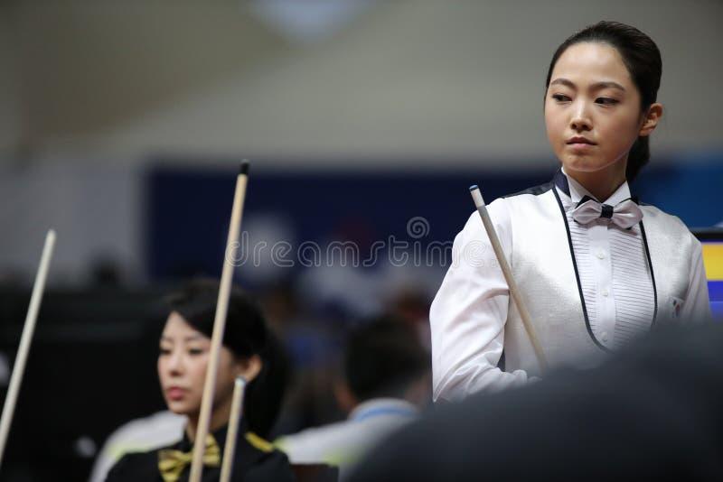 Cha RAM bilardowy gracz Południowy Korea obraz royalty free