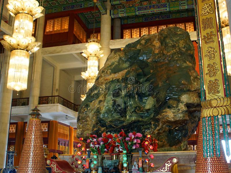 Chabeta Buddha pałac Zadek Anshan chabet Buddha w Mahavira pałac, Anshan, Liaoning prowincja, Chiny obraz royalty free