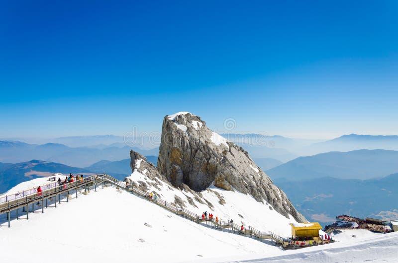 Chabeta smoka śniegu góra obrazy royalty free
