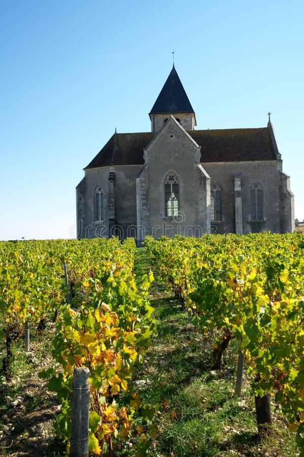 Golden Gate of Burgundy, village of Chablis in Bourgogne region, famous for white wine. Chablis,France-October 16, 2018: Golden Gate of Burgundy, village of royalty free stock photography