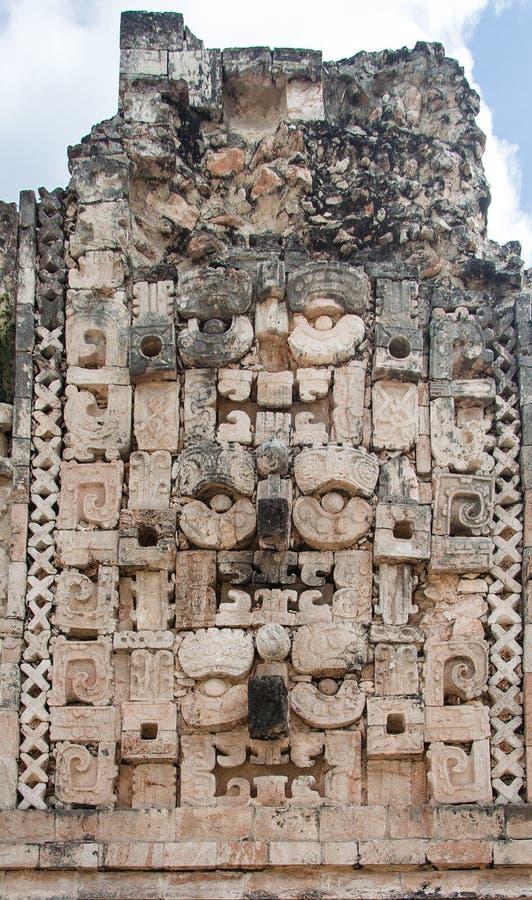 chac神玛雅墨西哥雨uxmal尤加坦 图库摄影