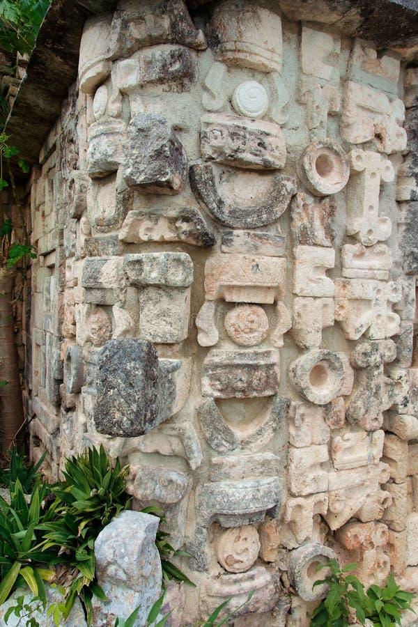 chac神玛雅墨西哥雨uxmal尤加坦 免版税库存图片