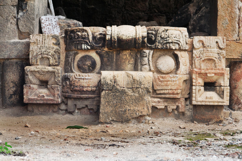 Chac Mask Kabah Yucatan Mexico Royalty Free Stock Image
