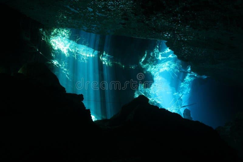 Chac-Mool Cenote fotos de archivo
