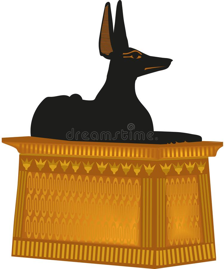 Chacal de la estatua del perro libre illustration