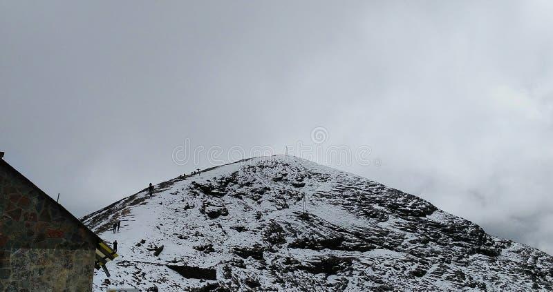 chacaltaya山的上面 库存图片