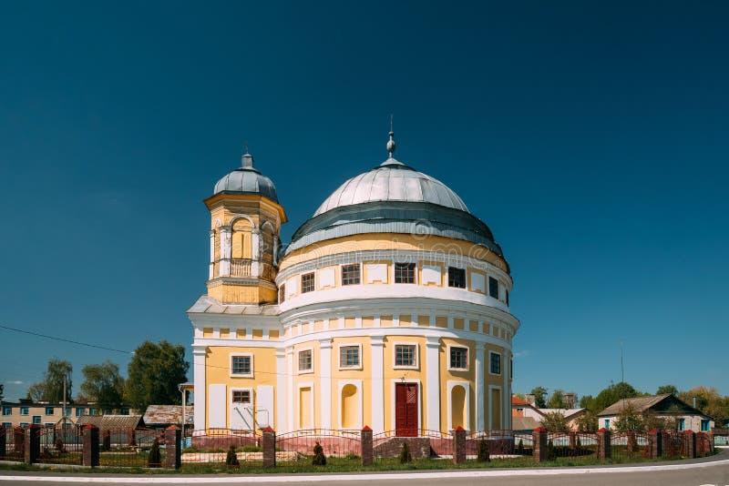 Chachersk, Belarus Église de transfiguration Église orthodoxe à ensoleillé image libre de droits