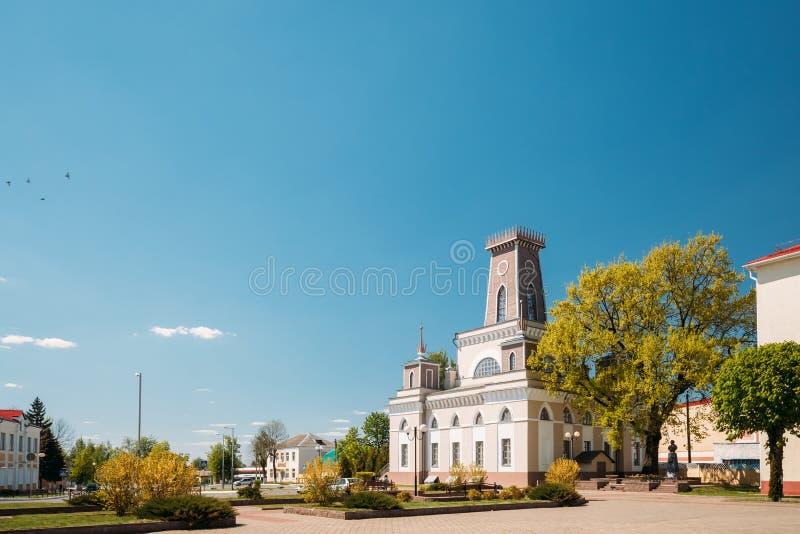 Chachersk, Belarus Point de repère célèbre - vieille ville Hall In Sunny Summer photo stock
