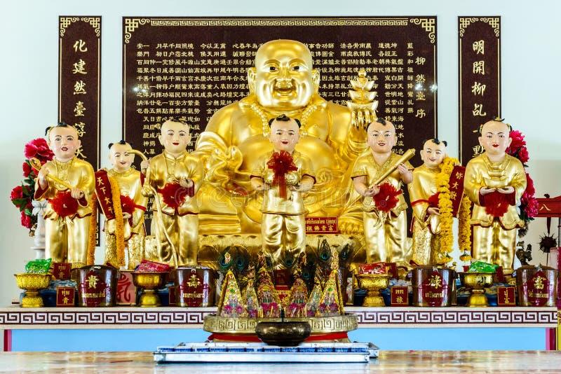 Chachoengsao, Thailand - September 16: Sculpture of Golden Gauta royalty free stock image
