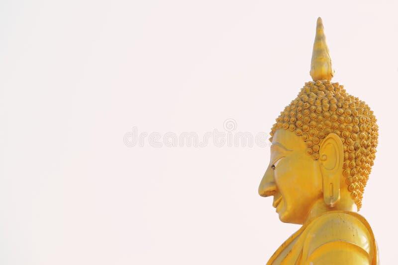 Chachoengseo,泰国2月3日2019年:在Wat Veerachote的菩萨雕象 图库摄影