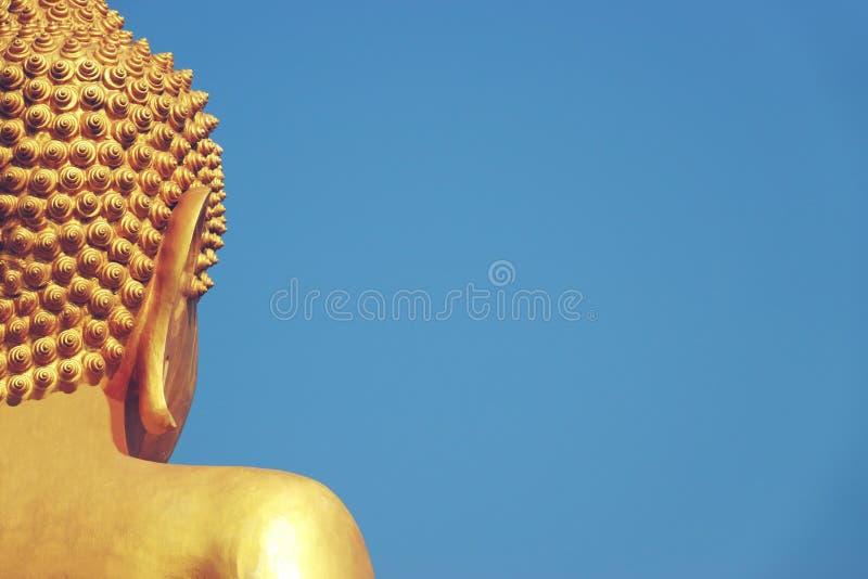 Chachoengseo,泰国2月3日2019年:在Wat Veerachote的菩萨雕象 库存照片