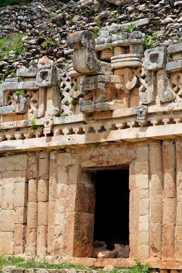 chaclabnamaskering mexico yucatan arkivfoto