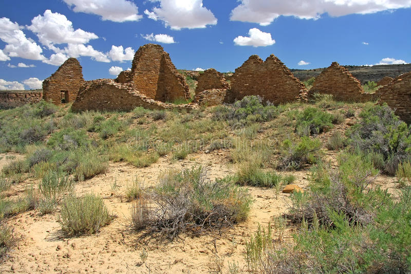 Chaco canyon. Archaeological ruins in Chaco canyon royalty free stock image