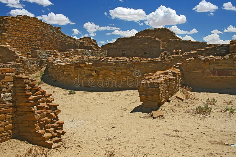 Chaco canyon. Archaeological ruins in Chaco canyon royalty free stock photography