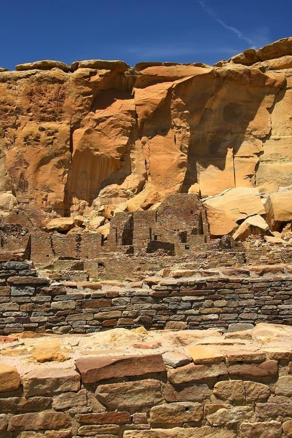 Chaco canyon. Archaeological ruins in Chaco canyon stock photos