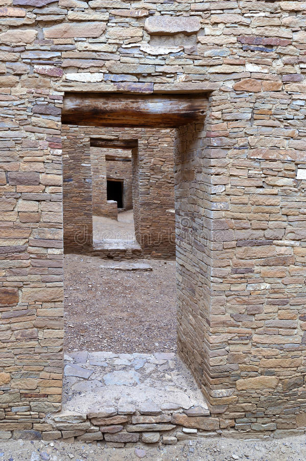 Download Chaco Canyon Doorways stock image. Image of north, chaco - 28742743