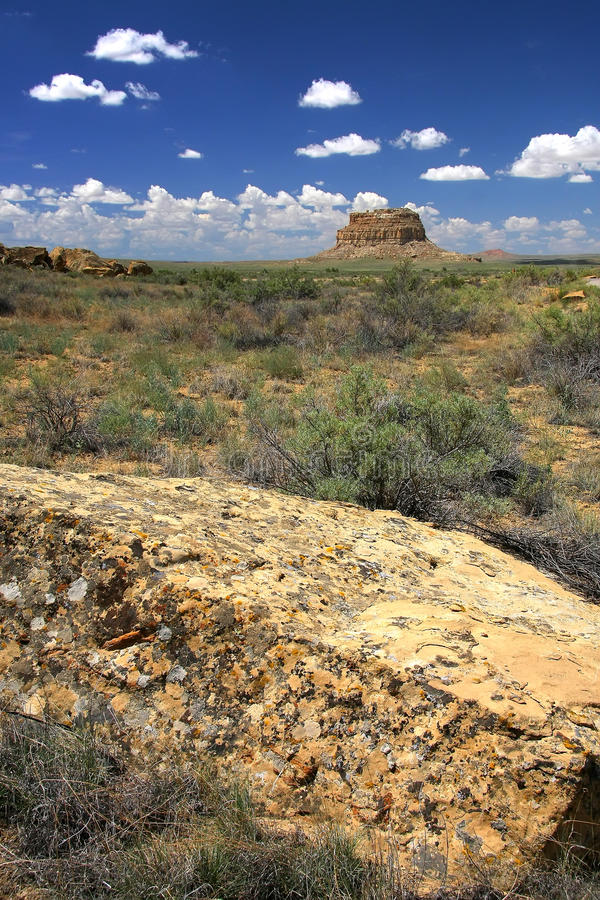 Chaco canyon. Landscape view on Chaco canyon royalty free stock photos