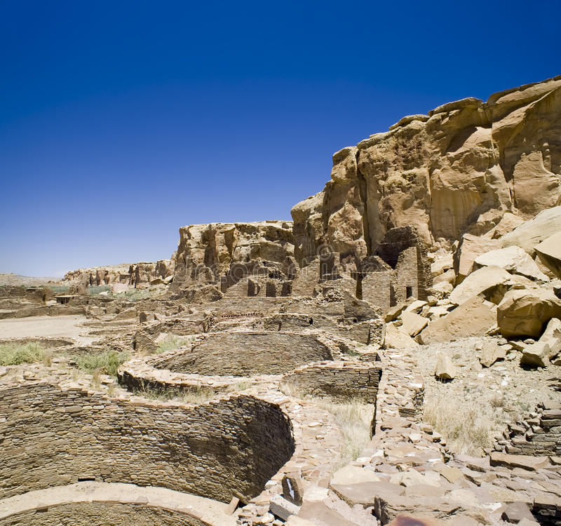 Chaco Canyon Ruins Royalty Free Stock Photo