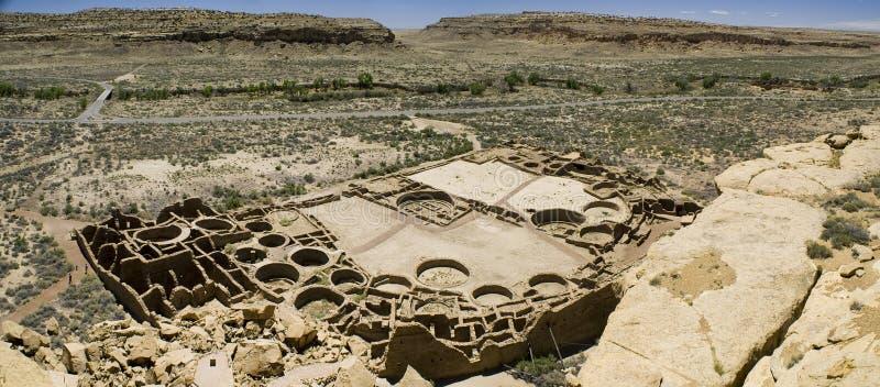 Chaco Canyon Ruins. Panorama of Ancient Ruins at Chaco Canyon, New Mexico royalty free stock image