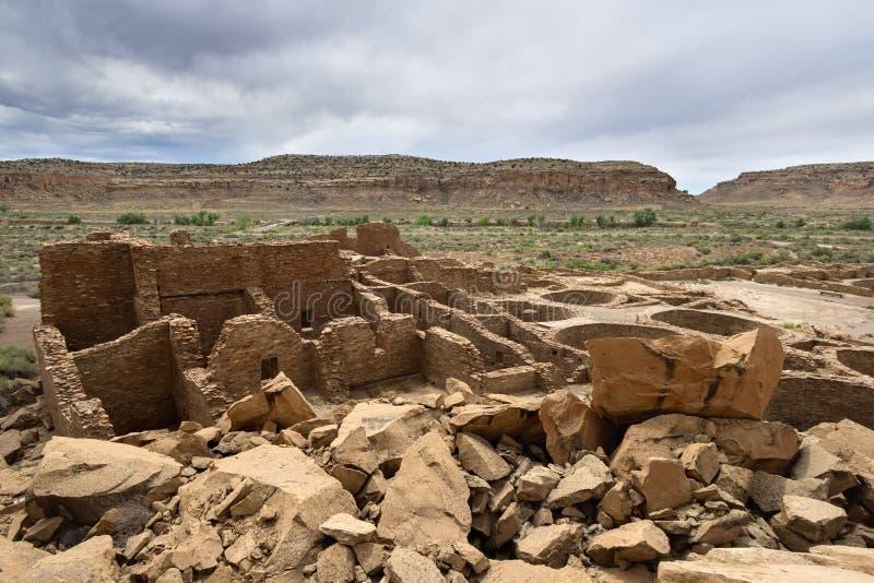 Chaco Culture National Historic Park. Pueblo Bonito, Chaco Culture National Historic Park, New Mexico stock images