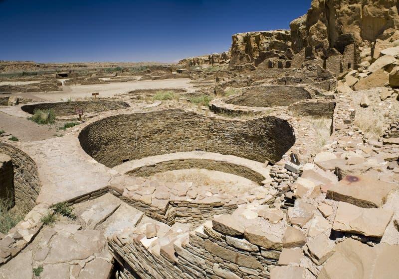 Chaco Schlucht-Ruinen lizenzfreie stockbilder