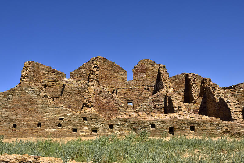 Chacoan ancient architecture royalty free stock image
