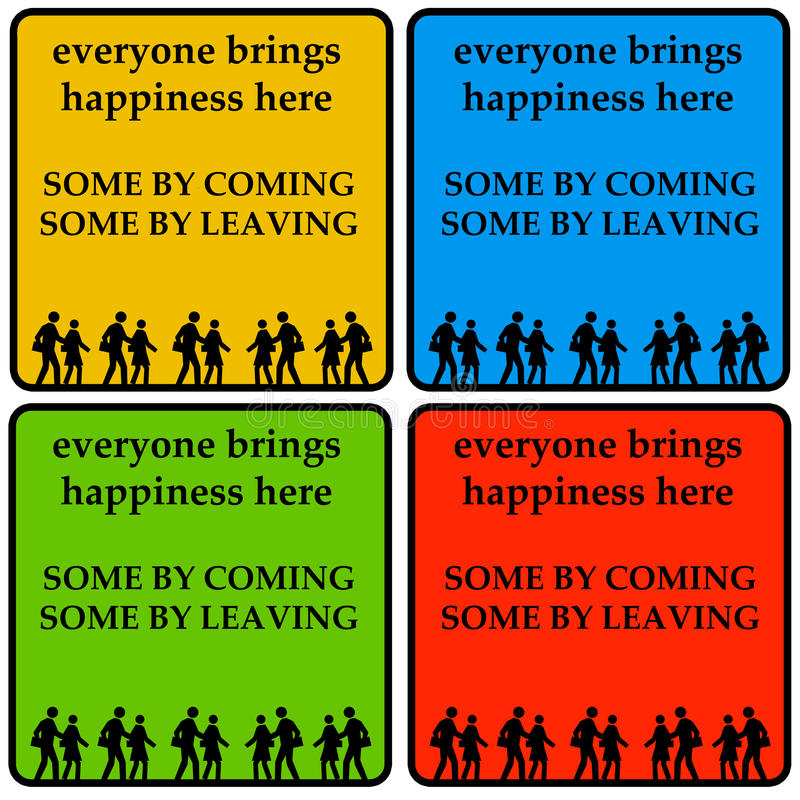 Chacun apporte le bonheur illustration libre de droits