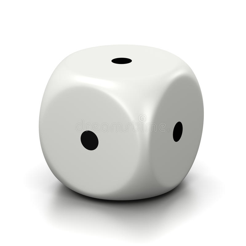 Chacun des visages numérotés un matrices blanches illustration de vecteur