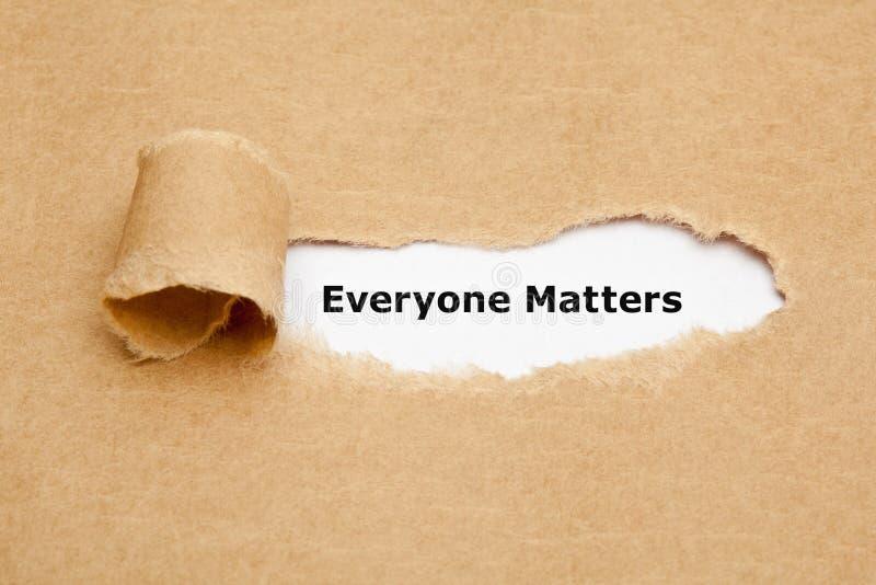 Chacun importe concept de papier déchiré photo libre de droits