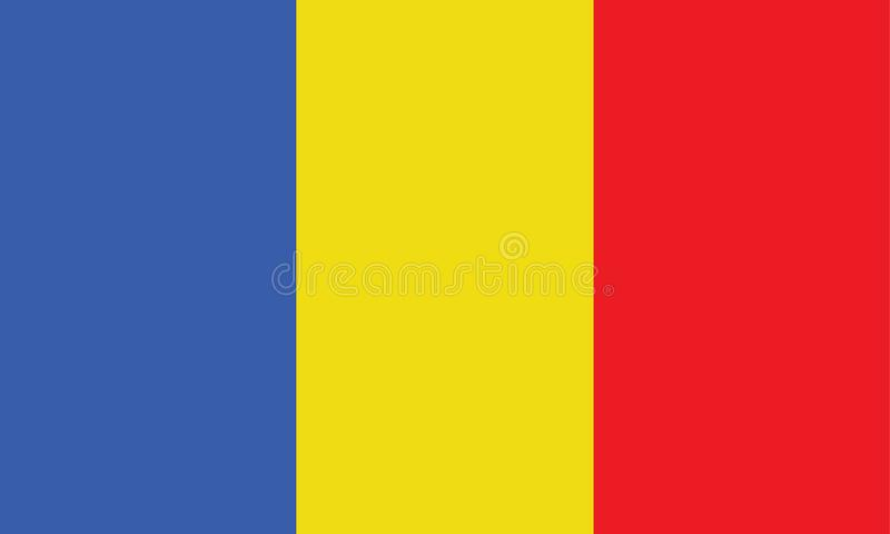 Chad Flag illustration libre de droits