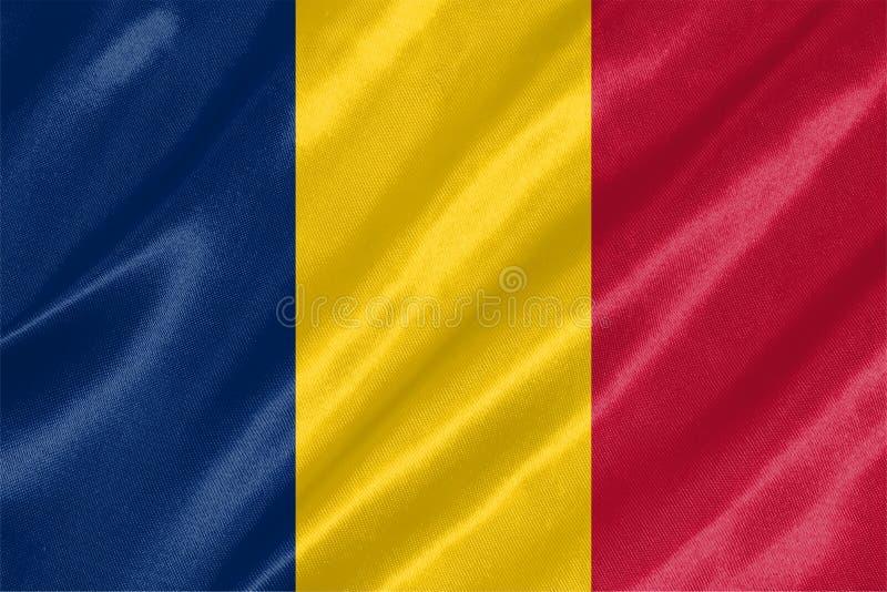 Chad Flag stock abbildung