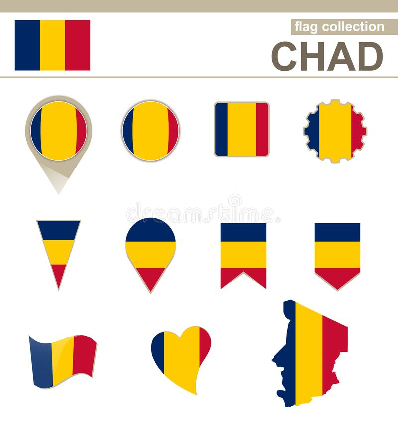 Chad Flag Collection illustration libre de droits