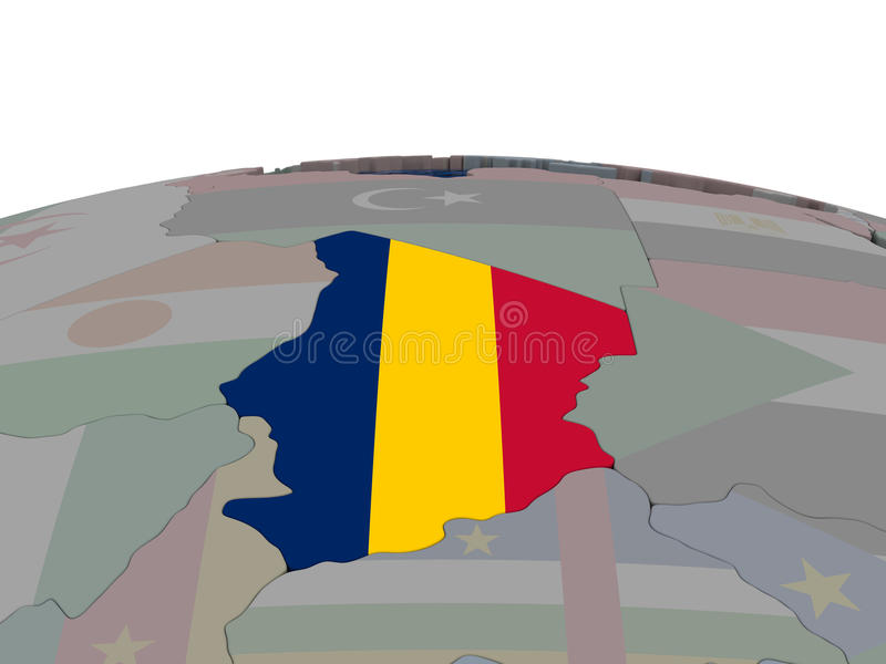 Download Chad With Flag Stock Illustration - Image: 83718005