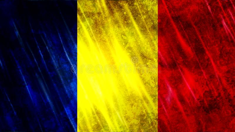 Chad Flag photographie stock libre de droits