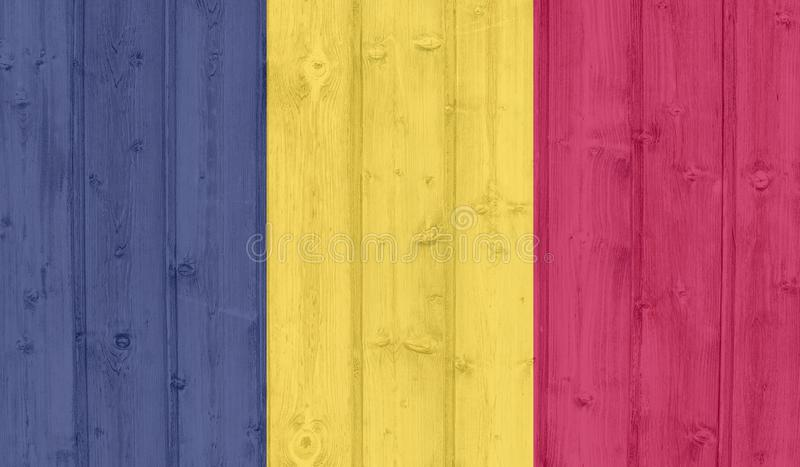 Chad Flag lizenzfreie stockbilder