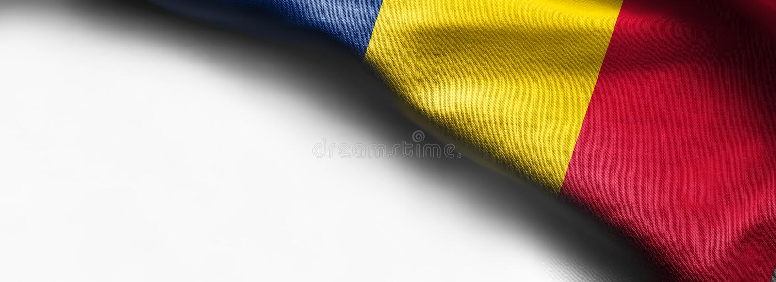 Chad Flag sur le fond blanc photos stock