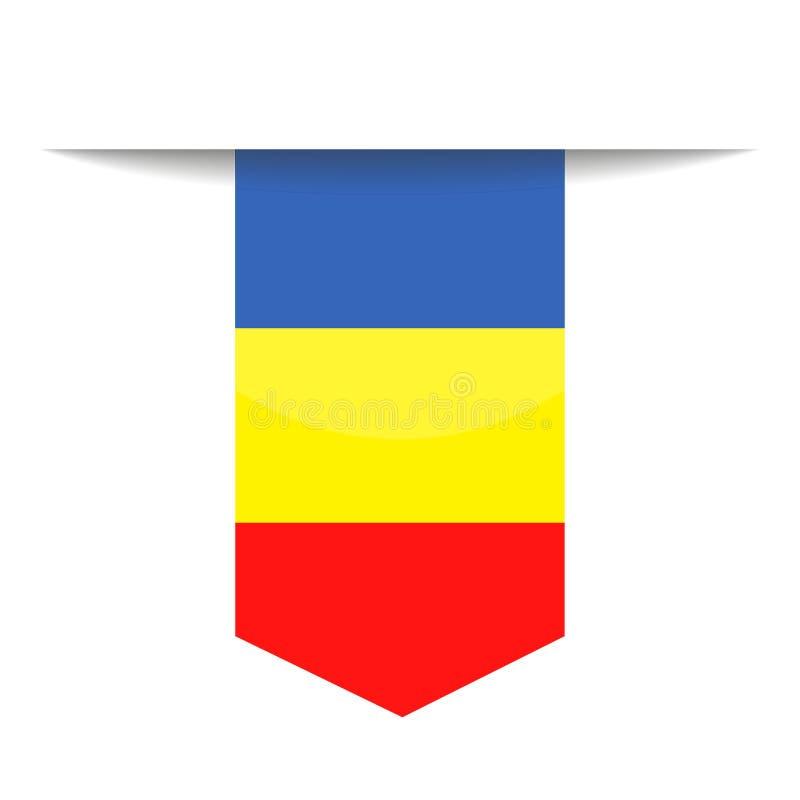 Chad Flag Vector Bookmark Icon ilustración del vector