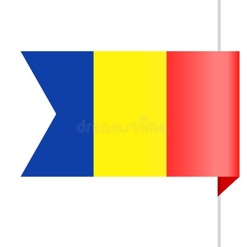 Chad Flag Vector Bookmark Icon libre illustration